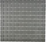 Mosaik Fliese Keramik grau metall MOS18-0222-R10