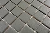 Handmuster Mosaikfliese RUTSCHEMMEND RUTSCHSICHER Boden Schiefergrau matt MOS18-0222-R10_m