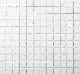 Mosaik Fliese Keramik weiß MOS18-0102-R10