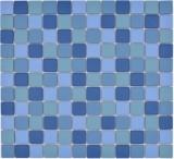 Keramik Mosaik blau türkis Poolmosaikfliese RUTSCHEMMEND DUSCHTASSE BODENFLIESE Fliesenspiegel Küche Wand - MOS18-0404-R10