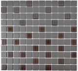 Mosaik Fliese Keramik braun unglasiert Glas MOS18-1313-R10