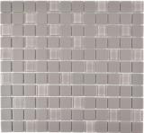 Mosaikfliese Keramik grau unglasiert Glasmosaik Duschtasse MOS18-0202-R10