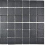 Mosaikfliese Keramik soft schwarz RUTSCHEMMEND RUTSCHSICHER MOS14-0311-R10