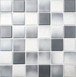 Mosaik Fliese Keramik grau MOS16-2211-R10