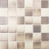Mosaikfliese Keramik BRAUN BEIGE MIX RUTSCHEMMEND RUTSCHSICHER MOS16-1211-R10