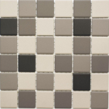 Mosaik Fliese Keramik hellbeige grau unglasiert MOS14B-0208-R10