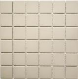 Mosaik Fliese Keramik hellbeige unglasiert MOS14B-1211-R10
