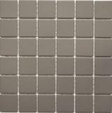 Mosaikfliese Keramik schlamm grau unglasiert RUTSCHEMMEND BAD MOS14B-0204-R10
