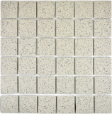 Mosaikfliese Duschtasse Boden creme Spots unglasiert RUTSCHEMMEND MOS16-0103-R10