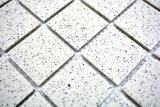 Mosaikfliese Duschtasse Boden creme Spots unglasiert RUTSCHEMMEND MOS16-0103-R10_m