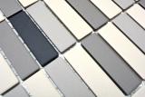 Mosaikfliese Keramik hellbeige grau Stäbchen unglasiert Duschtasse Bodenfliese MOS24B-0208-R10_m