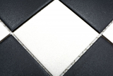 Mosaikfliese Keramik chachbrett schwarz weiß Duschtasse Bodenfliese MOS22-0304-R10_m