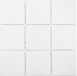 Mosaikfliese Keramik weiß Duschtasse Bodenfliese MOS22-0102-R10