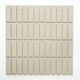 Mosaikfliese Keramik Stäbchen hellbeige unglasiert Duschtasse Bodenfliese MOS24B-1211-R10