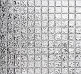 Mosaik Fliese Keramik silber gehämmert MOS18-0207