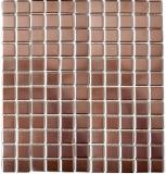 Mosaikfliese Keramik KUPFER BRAUN CHROME Wand Fliesenspiegel Küche MOS24-0215
