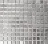 Mosaik Fliese Keramik silber