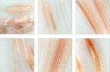 Glasmosaik weiß kupfer Mosaikfliese Glas Classic MOS230-G02