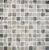Mosaikfliese ECO Recycling GLAS ECO Holzstruktur hellgrau MOS63-312_f