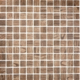 Mosaikfliese ECO Recycling GLAS ECO Holzstruktur braun MOS63-409