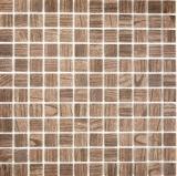 Mosaik Fliese ECO Recycling GLAS ECO Holzstruktur braun MOS63-409