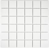 Mosaik Fliese Keramik weiß MOS14-0111-R10