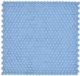 Rund Enamel mix blau glänzend/matt Mosaikfliese Wand Fliesenspiegel Küche Bad