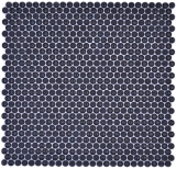 Knopfmosaik Glas schwarz glänzend matt Duschboden Duschwand Badewannenverkleidung MOS140-0311_f