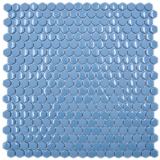Glasmosaik Hexagonal Sechseckmosaik blau glänzend matt Mosaikfliese Wand Fliesenspiegel Küche Bad