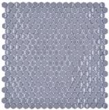 Glasmosaik Hexagonal Sechseckfliesen grau glänzend matt Mosaikfliese Wand Fliesenspiegel Küche Bad MOS140-0201_f
