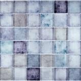 Glasmosaik Blau Violett mix changierend Mosaikfliese Wand Fliesenspiegel Küche Bad