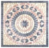 Einleger Naturstein  Venus  nero rosso chiaro beige rot schwarz Mosaikfliese Wand Boden