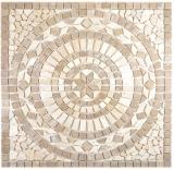 Einleger Naturstein Mars chiaro noce beige braun Mosaikfliese Boden