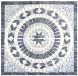 Einleger Naturstein Earth nero bianco bardiglio schwarz weiß grau Mosaikfliese Boden