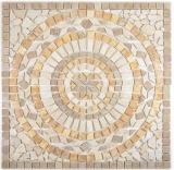 Einleger Naturstein Mercury noce gold chiaro beige braun gold Mosaikfliese Boden