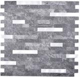 Verbund Vinyl Steinoptik Black Quartz/Silver Mosaikfliese Wand Fliesenspiegel Küche Bad MOS200-22BS_f