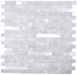 Verbund Vinyl Steinoptik Cement grey/Silver Mosaikfliese Wand Fliesenspiegel Küche Bad MOS200-4GS_f