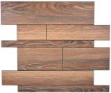 Wandpaneele selbstklebend Holzoptik braun Küchenrückwand Fliesenspiegel MOS200-51WBL_f