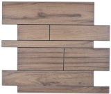 Wandpaneele selbstklebend Holzoptik dunkelbraun Küchenrückwand Fliesenspiegel