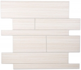 Wandpaneele selbstklebend Holzoptik Wood White Küchenrückwand Fliesenspiegel - MOS200-53WWL_f
