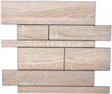 Wandpaneele selbstklebend Holzoptik braun grau Küchenrückwand Fliesenspiegel MOS200-57WGS_f