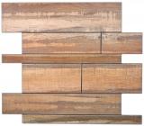 Wandpaneele selbstklebend Holzoptik Wood braun Küchenrückwand Fliesenspiegel - MOS200-58WRS
