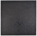 Quadrat Metalloptik Alu schwarz matt gebürstet selbstklebend MOS200-L1B_f