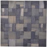 Holzmosaik Holzpaneel Verblender grau blau dunkel 3D selbstklebend Wand Küche Fliesenspiegel