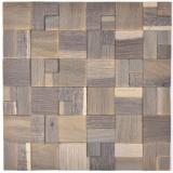 Holzmosaik Holzpaneel Verblender grau blau hell 3D selbstklebend Wand Küche Fliesenspiegel MOS170-22G_f