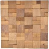 Holzmosaik Holzpaneel Verblender beige 3D selbstklebend Wand Küche Fliesenspiegel MOS170-33N_f