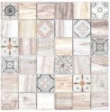 Quadrat Crystal mix hellbeige/beige Mosaikfliese Wand Fliesenspiegel Küche Dusche Bad MOS160-w100_f
