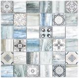 Quadrat Crystal mix hellblau Mosaikfliese Wand Fliesenspiegel Küche Dusche Bad MOS160-w300_f