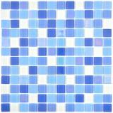 Glasmosaik fluoreszierend blau weiss Mosaikfliese Wand Fliesenspiegel Küche Dusche Bad