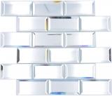 Rechteck Mirror Metro Mosaikfliese Wand Fliesenspiegel Küche Dusche Bad MOS180-03_f